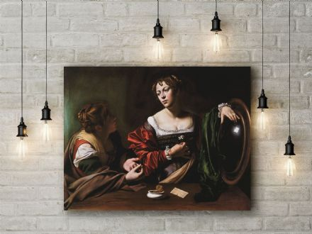 Caravaggio: Martha and Mary Magdalene. Fine Art Canvas.